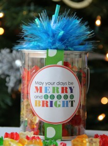 Merry & Bright Christmas Label