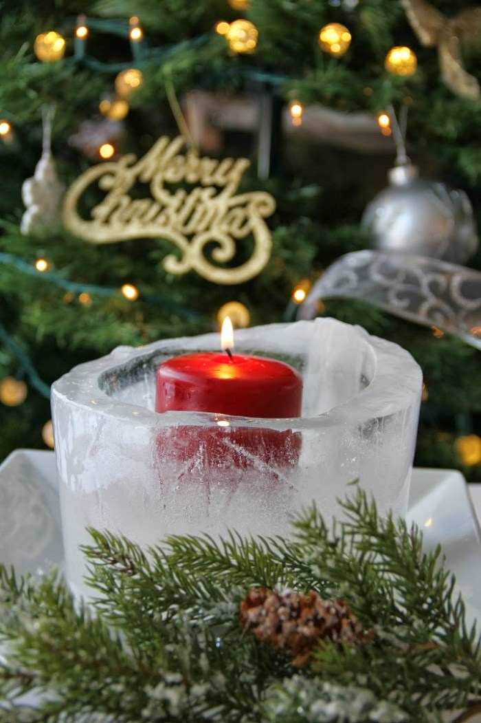Christmas Ice Luminary - Such a beautiful craft for the holidays! Full tutorial!
