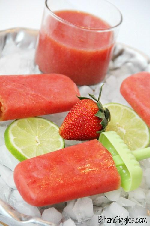 Strawberry Watermelon Agua Fresca Popsicles
