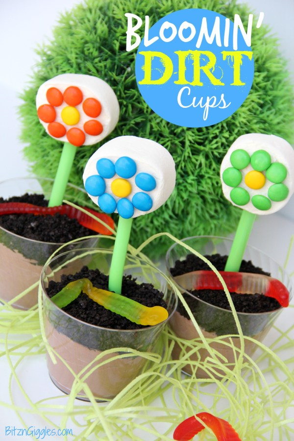 Bloomin' Dirt Cups - Bitz & Giggles