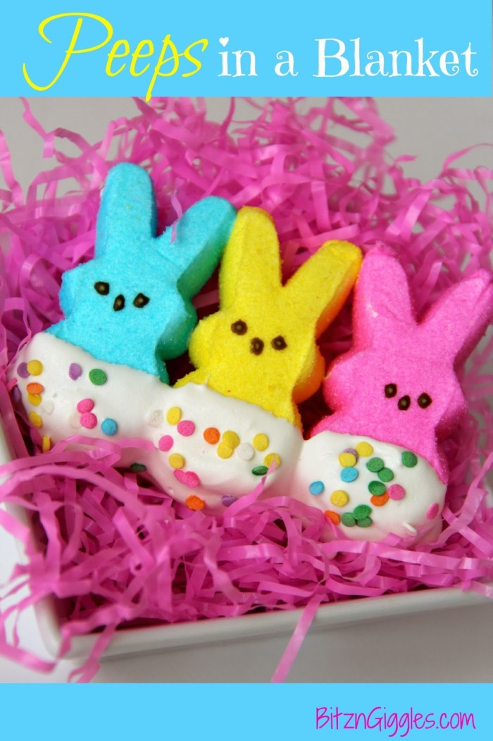 Peeps in a Blanket - A super sweet and cute Easter treat!