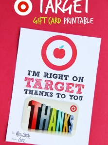 Target Gift Card Printable – Teacher Appreciation