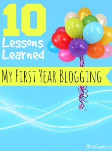 10 Lessons Learned My First Year Blogging