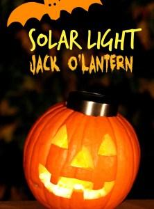 Solar Light Jack O'Lantern