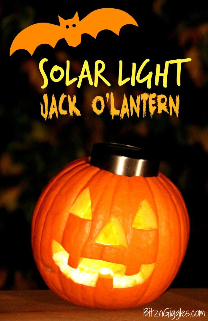 Solar Light Jack O Lantern