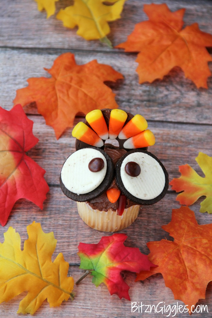 Wide Eyed Turkey Cupcakes
