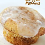 Coffee Cake Glazed Muffins - Cinnamon Sugar Muffins made from cake mix topped with a sweet crackle glaze.