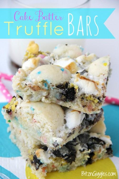 Cake Batter Truffle Bars