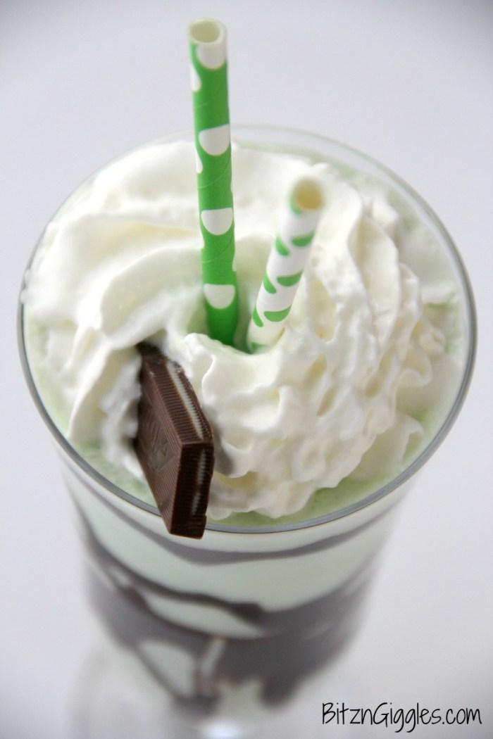 Grasshopper Ice Cream Drink