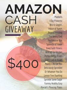 $400 Amazon Cash Giveaway