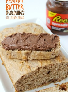 Peanut Butter Panic Ice Cream Bread