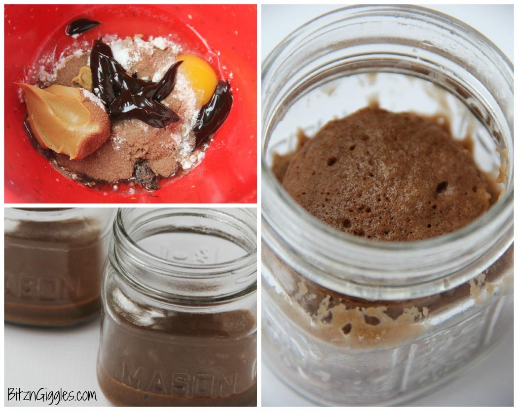 Peanut Butter Fudge Mason Jar Cake