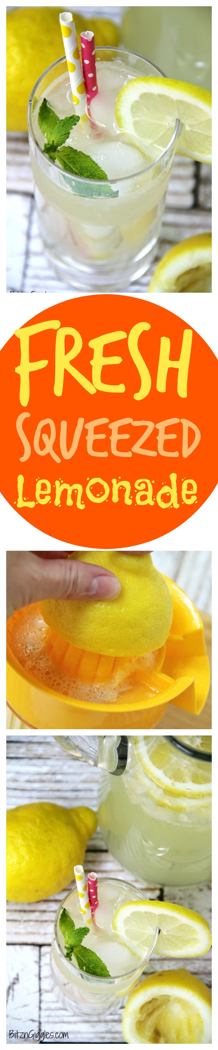 Fresh Squeezed Lemonade - There's nothing like fresh squeezed lemonade! This simple recipe comes together in no time at all and produces delicious results. It reminds me of the wonderful lemonade I get at our hometown fair!