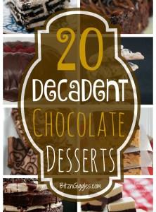 20 Decadent Chocolate Desserts