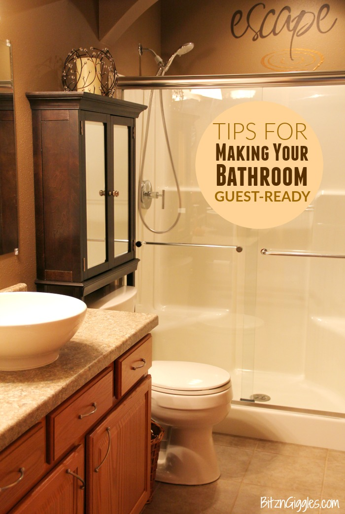 Tips for Making Your Bathroom Guest-Ready - There's one room in the home that cannot be missed when planning for company. Here's how to make your bathroom shine and leave a lasting impression on your guests!