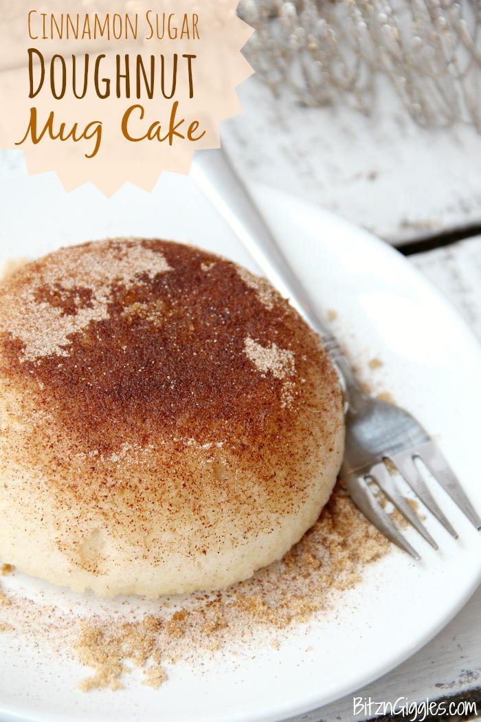 cinnamon sugar doughnut mug cake