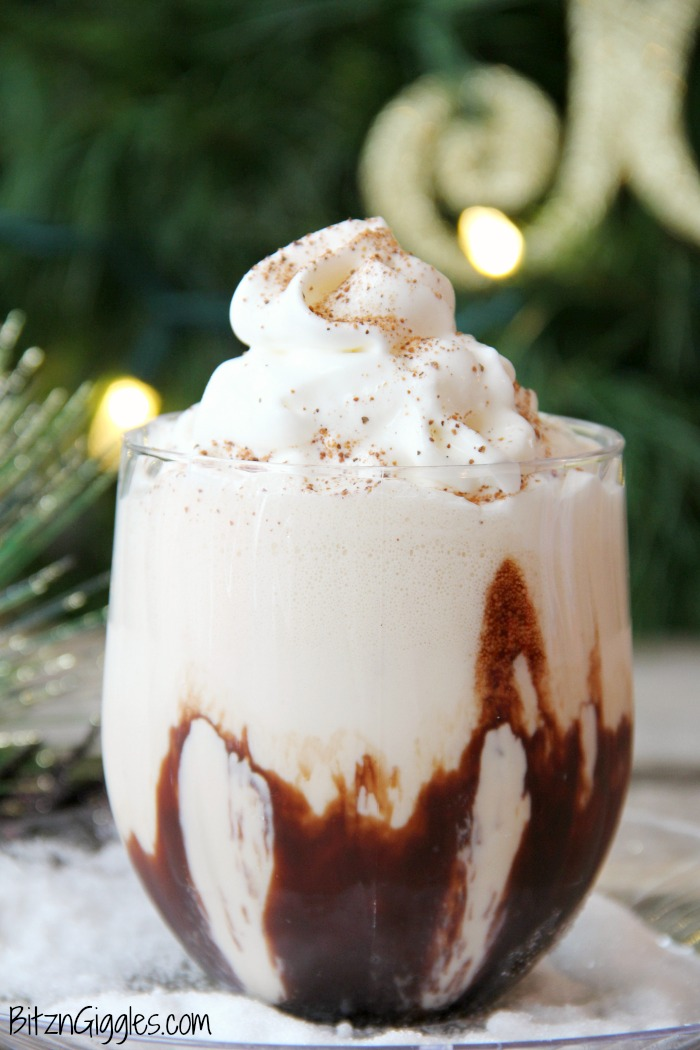 No Blend Frozen Mudslide - A decadent combination of rich chocolate and creamy vanilla! A delicious ice cream drink for adults - no blender required!
