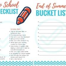 Back to School Fun Checklist