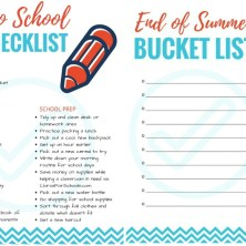 Back to School Fun Checklist
