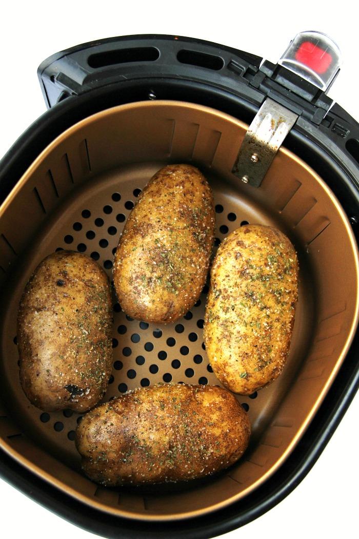 Easy Air Fryer Baked Potatoes Bitz Amp Giggles