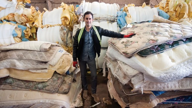 Mattress Recycling Ceo Fabio Scaldaferri At The Company S Mitchell Island Facility Chung Chow