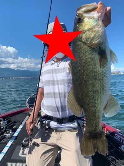 8月4日琵琶湖ガイドは59cm51cm他なんだけどミスが痛かった1日でした。GETNETジャスターフィッシュ2.5カルティバスイングヘッド1.4g