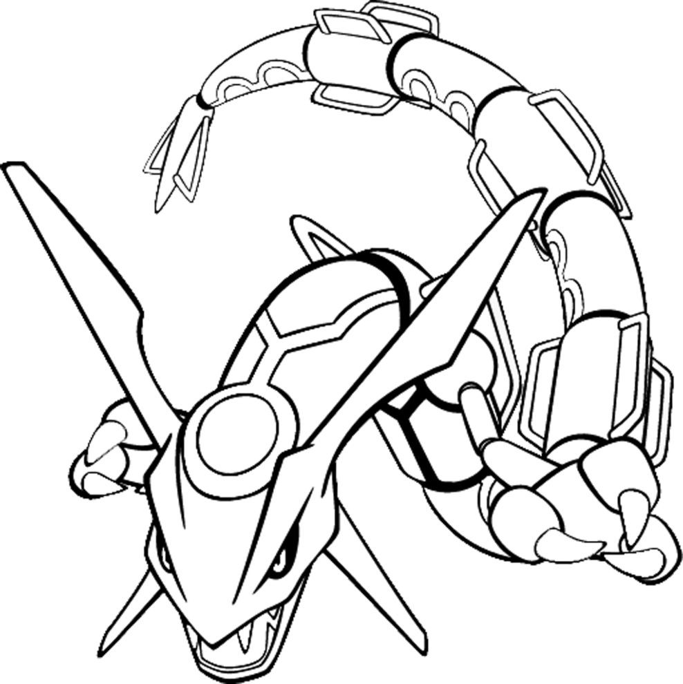 Rayquaza Papercraft Pokemon Coloring Pages For Kids Pokemon Rayquaza Colouring Pages Printable Papercrafts Printable Papercrafts