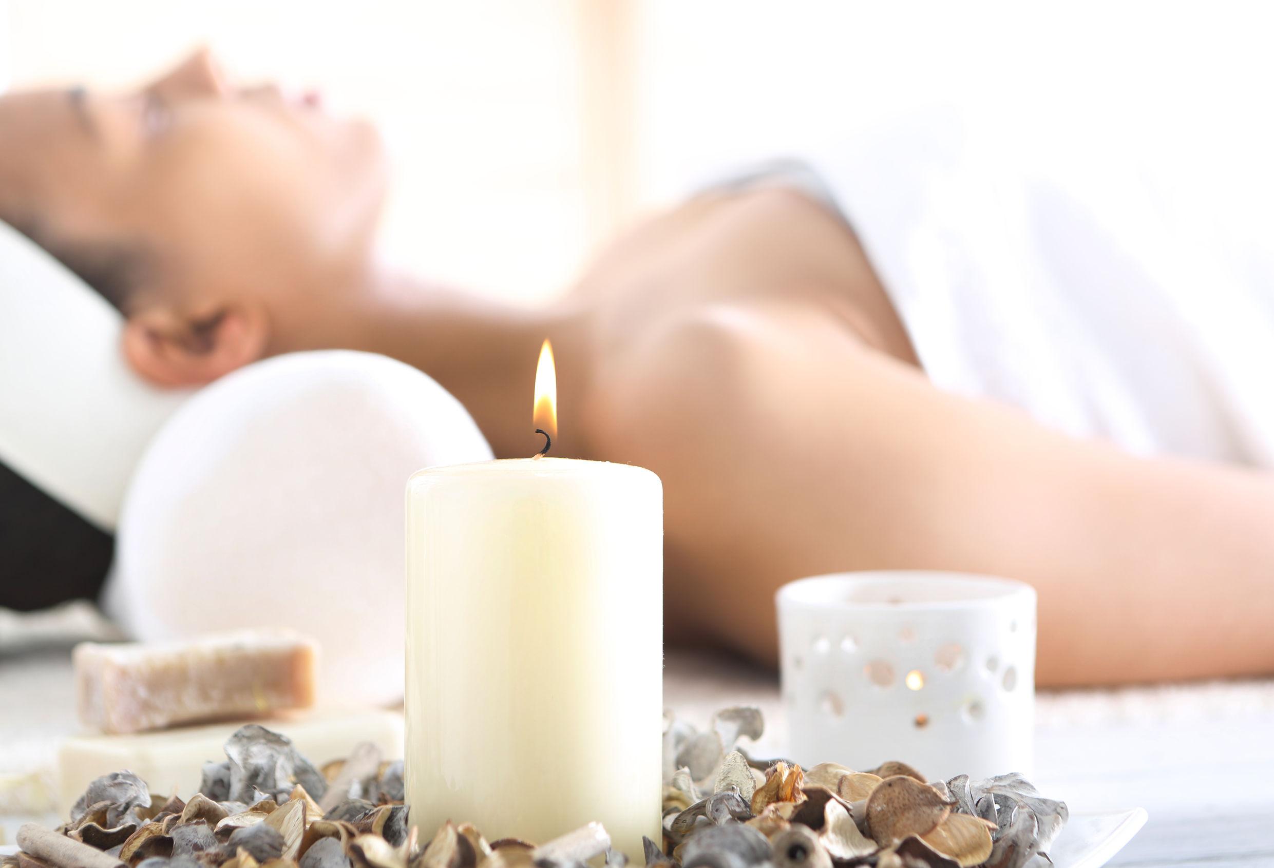 37911924 - beautiful woman relaxing in the beauty salon,