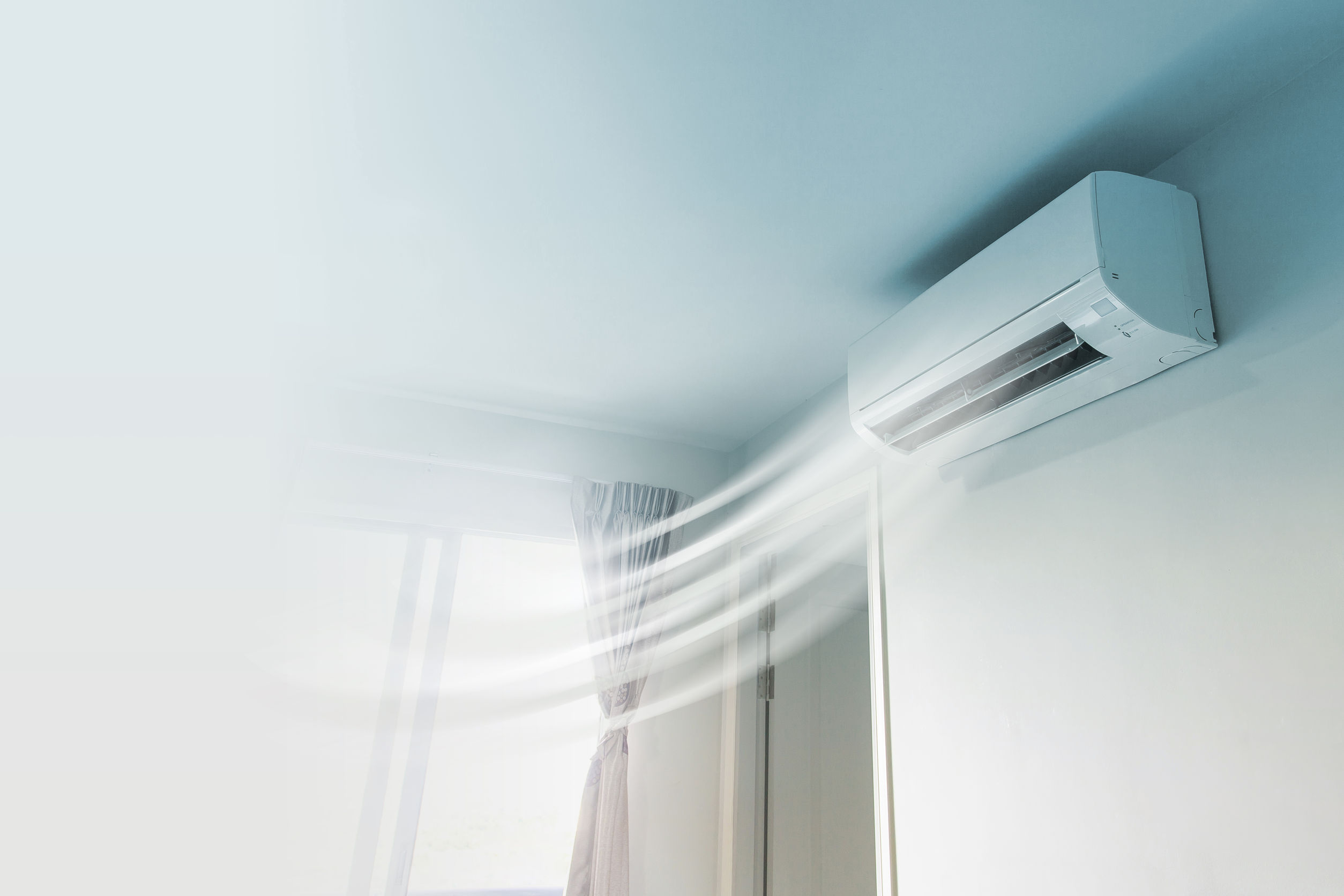 45668744 - air conditioner on wall background