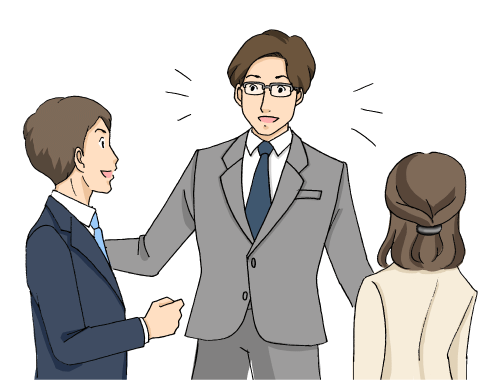 他の社員に頼られる会社員の男性