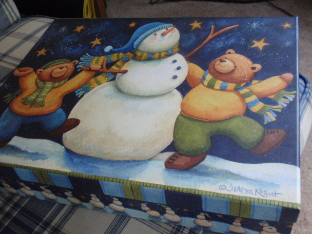 a snowman box - I got it for $1