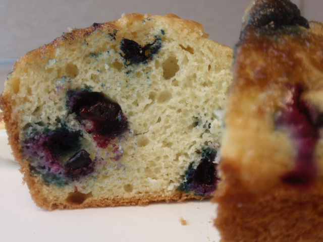Each muffin comes in at 266 calories, 10.5 fat, 7.6 protein, 34 carbs and 2.7 fiber