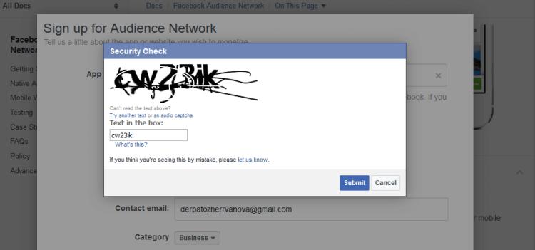 Solve the Facebook captcha