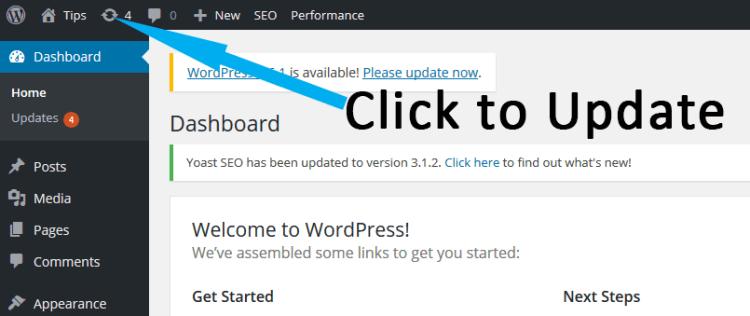 Updating WordPess