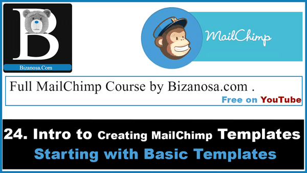 Create a mailchimp template - introduction to mailchimp templates