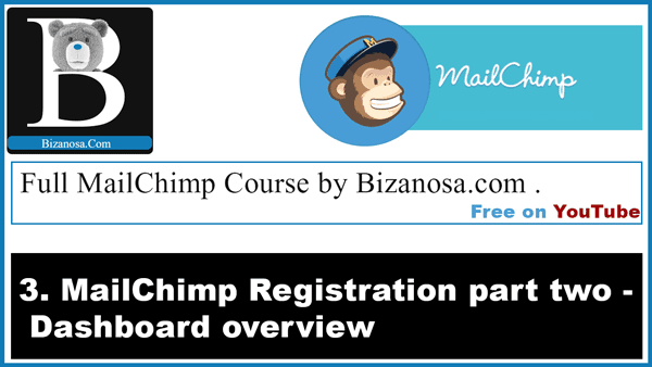 MailChimp course dashboard overview