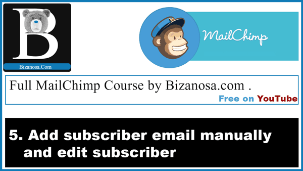Add and edit mailchimp subscriber manually