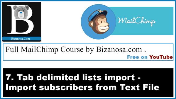 7  Importing subscribers into MailChimp