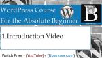 1. WordPress  Video Tutorial - Introduction