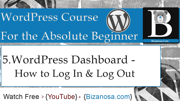 wordpress dashboard - wordpress tutorial