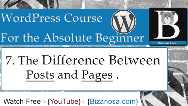 Difference between wordpress posts and pages