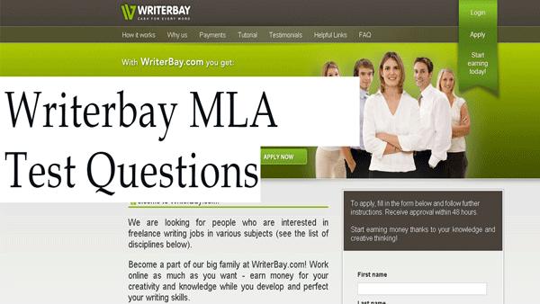 writerbay mla test