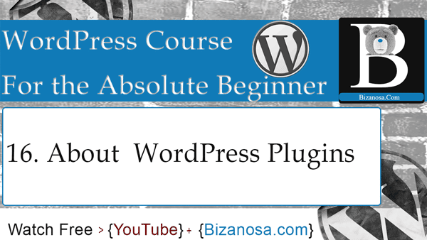 Working with WOrdPress plugins - WP video tutorial