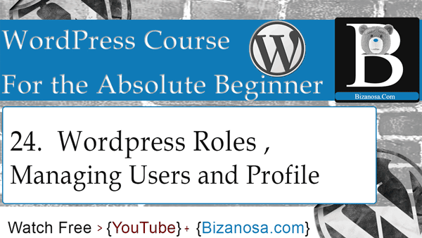 WordPress profile, users and roles