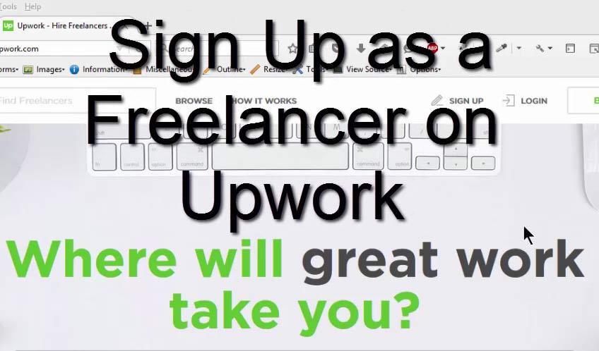 register on Upwork