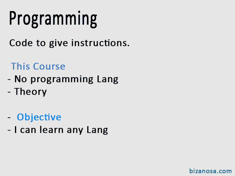 Intro to programming flashcard