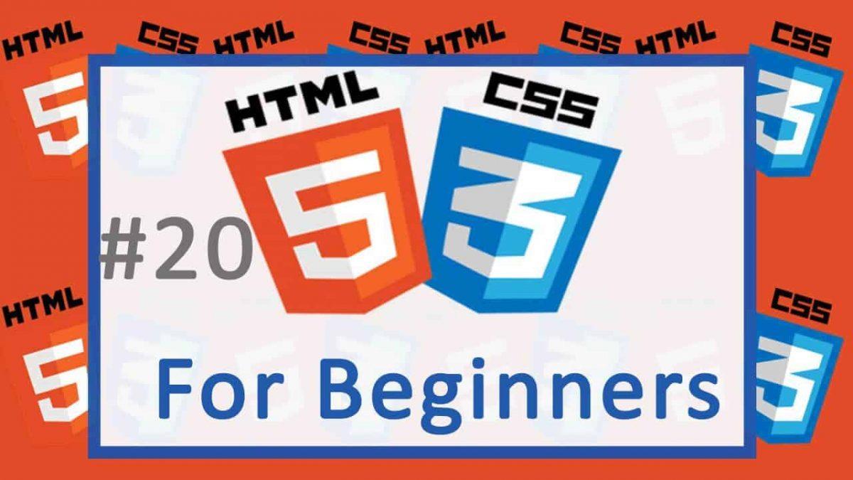 20 Understanding CSS Selectors - Introduction to Selectors