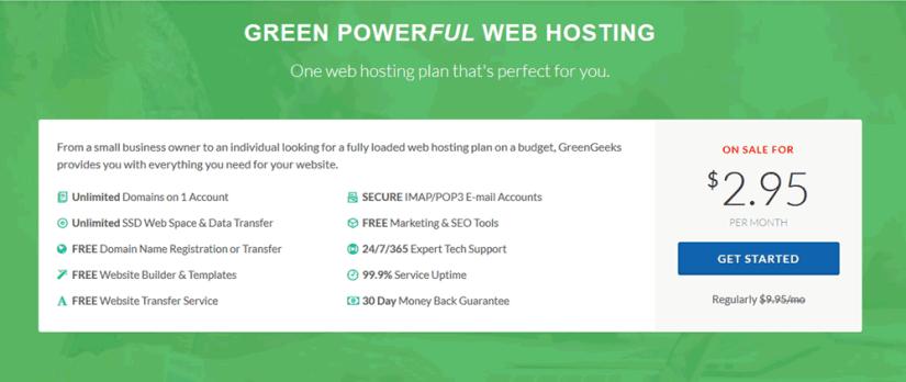 Greengeeks web hosting coupon offer for july