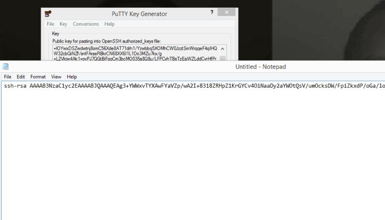 Store your public SSH Key