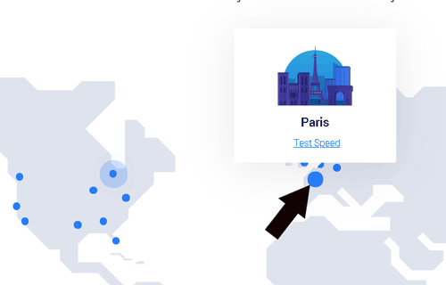 10 test Server speed for Paris data center location